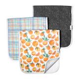 Copper Pearl Burp Cloth Set - Citrus