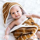 Copper Pearl Hooded Towel - Camel Stripe