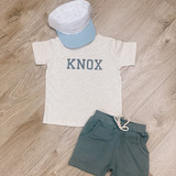 Natural Heather Personalized Kids Tee