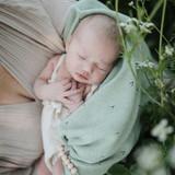 Mushie Blanket -  Pointelle Sage