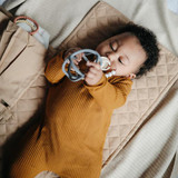 Mushie Blanket -  Ribbed Beige Melange