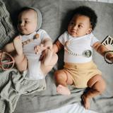 Mushie Blanket -  Ribbed Gray Melange