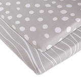 Bassinet Sheet - Grey Abstract