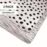 Pack & Play Sheets - Black Abstract