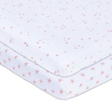 Pack & Play Sheets - Mauve Star