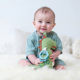 Link & Love Plush Silicone Teether - Dino