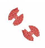 2PK Baby SHAB Clips - Terracotta Dot