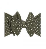 Shab-Bow-Lous Headband - Artichoke Dot