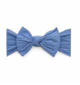 Baby Bling Solid Bow Headband - Denim