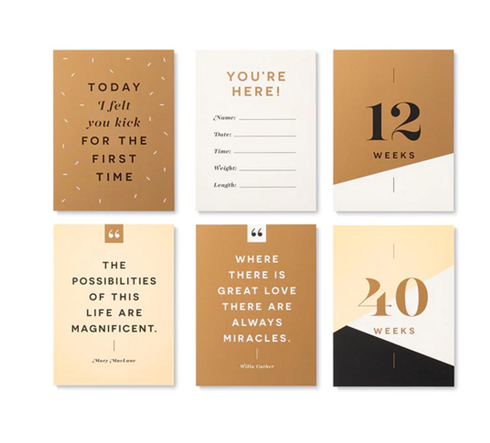 Moments of Joy: Pregnancy Milestone Cards