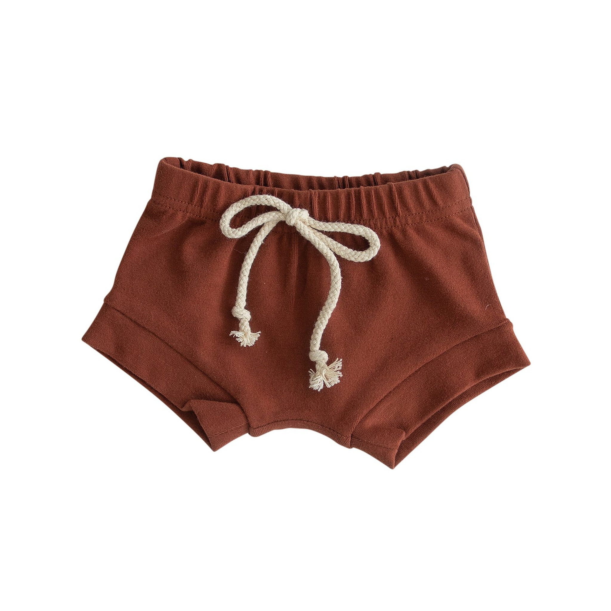 Cotton Shorts - Brick