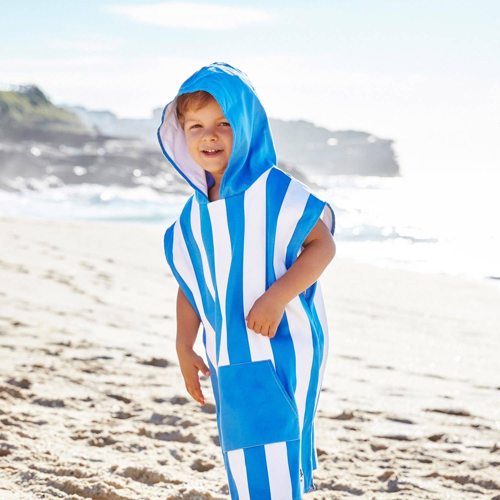 Dock & Bay Kids Poncho - Bondi Blue
