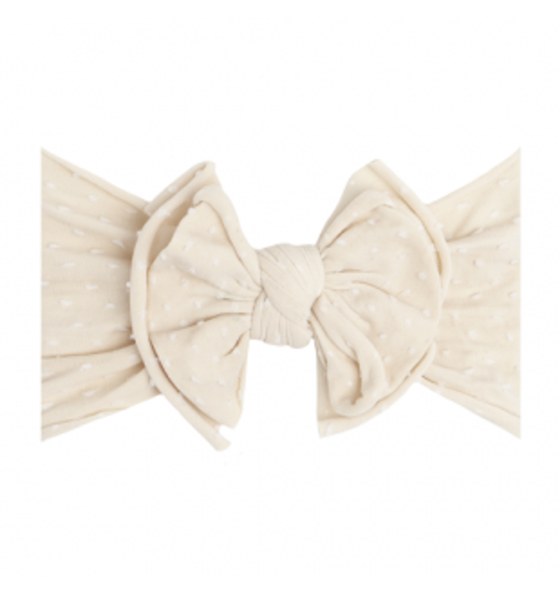 Shab-Bow-Lous Headband - Oatmeal Dot