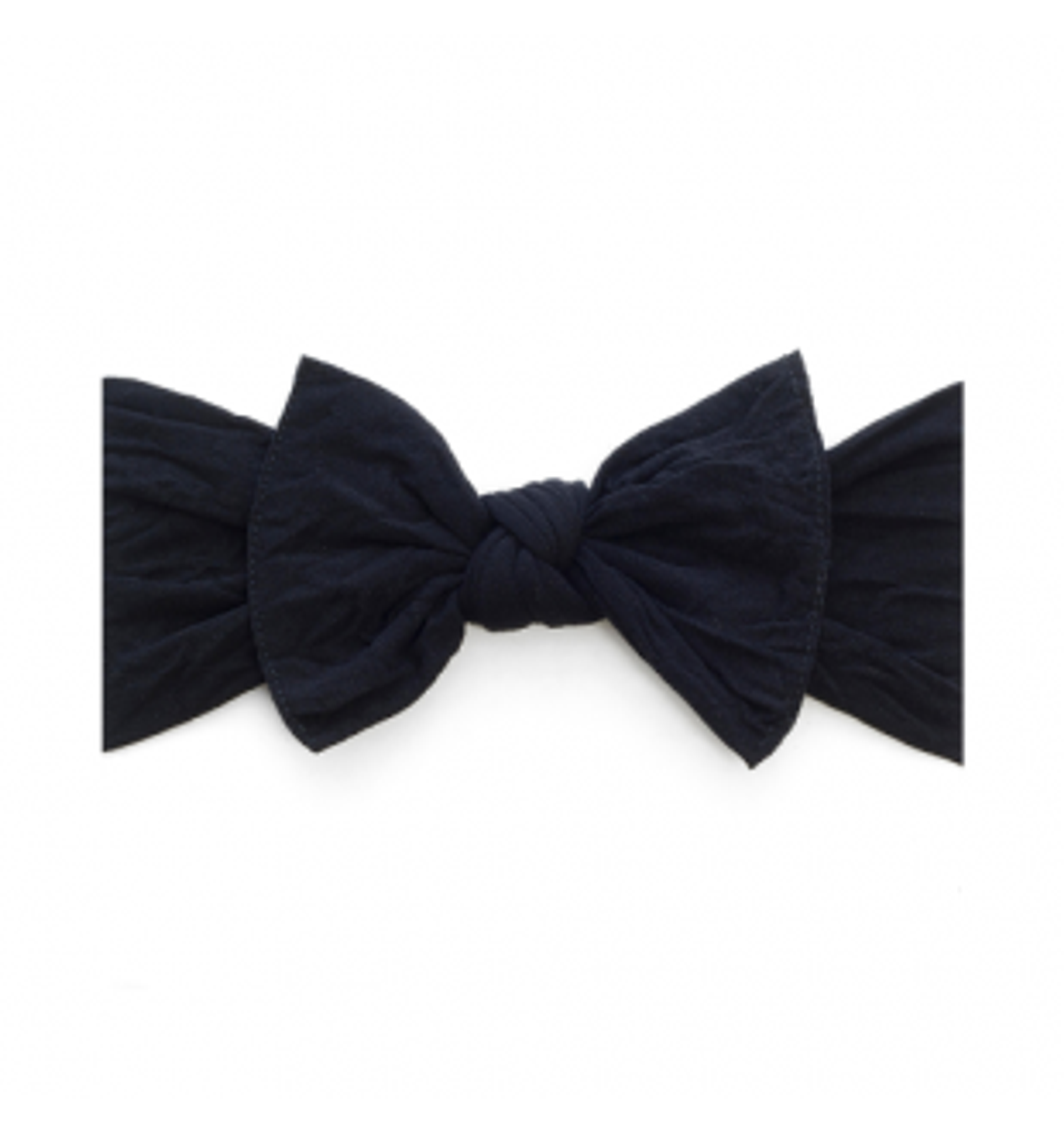 Baby Bling Solid Bow Headband - Black