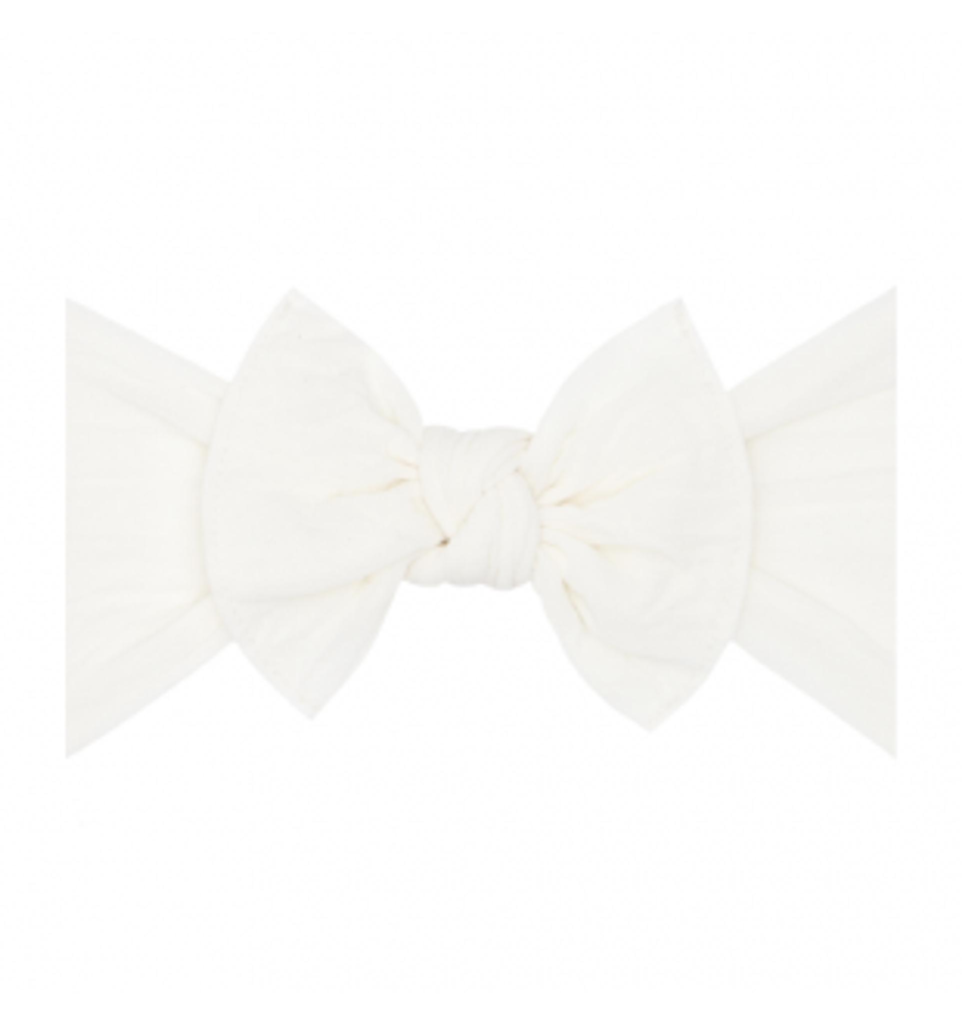 Baby Bling Solid Bow Headband - Ivory