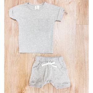 Tee + Short Set - Grey