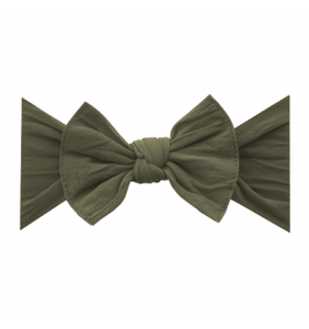 Baby Bling Solid Bow Headband - Army Green