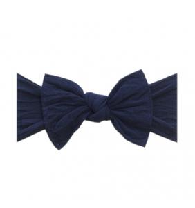 Baby Bling Solid Bow Headband - Navy