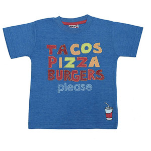 Boys Graphic Tee - Tacos Pizza Burgers