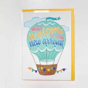 Warm Welcome to Your New Arrival Card