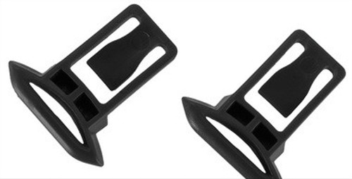 Replacement Standard Strap Clips for FAST Type Helmet Rails, 2pk