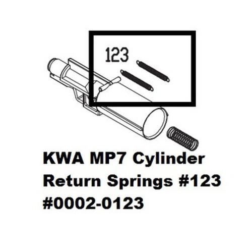 KWA MP7 Cylinder Return Spring, 2pk #123  199-0111a-0123