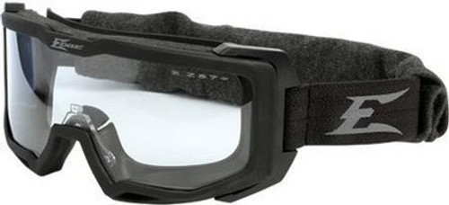 Edge Tactical Eyewear Blizzard, Soft Matte Full Seal Goggle, Black/Gray Frame (smoke & clear lens and prescription insert)