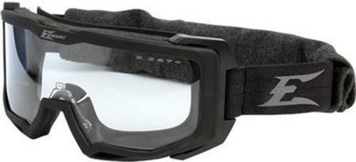 Edge Tactical Eyewear Blizzard, Soft Matte Full Seal Goggle, Black/Gray Frame (smoke & clear lens and prescription insert)