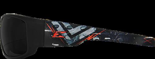 Edge Eyewear LEGENDS Collection Soft Touch Frame, Smoke Lens w/ Military Grade Vapor Shield Anti-Fog System and Ballistic Lens