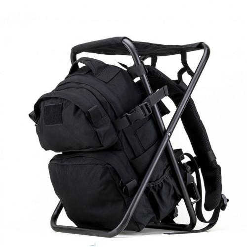 Defcon Gear Backpack Chair, Black DF-06-BK