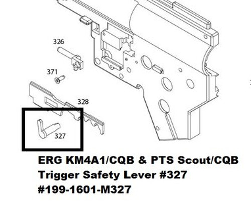 KWA ERG KM4A1 Trigger Safety Lever #327 199-1601-M327