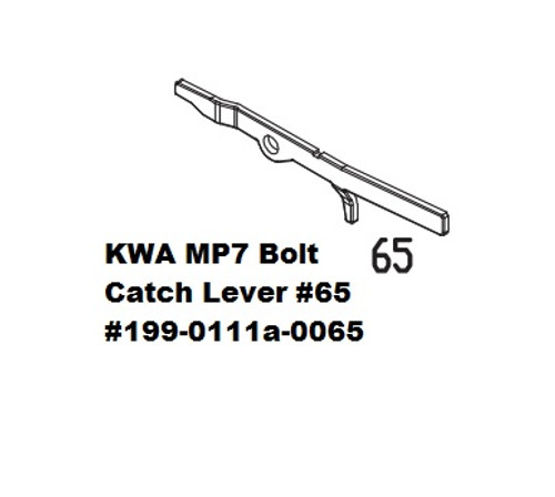 KWA MP7 Bolt Catch Lever #65 199-0111a-0065