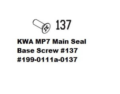 KWA MP7 Main Seal Base Screw #137 199-0111a-0137