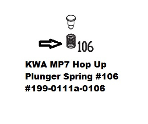 KWA MP7 Hop Up Plunger Spring #106 199-0111a-0106