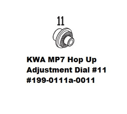 KWA MP7 Hop Up Adjustment Dial #11  199-0111a-0011