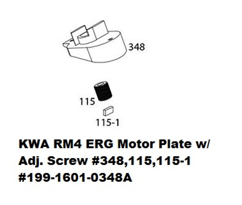 KWA ERG Motor Plate w/ Adjustment Screw #348A 199-1601-0348A