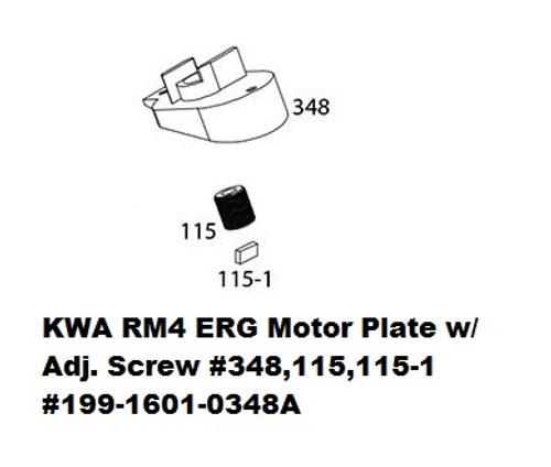 KWA ERG Motor Plate w/ Adjustment Screw #348A 199-1601-0348A