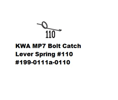 KWA MP7 Bolt Catch Lever Spring #110 199-0111a-0110