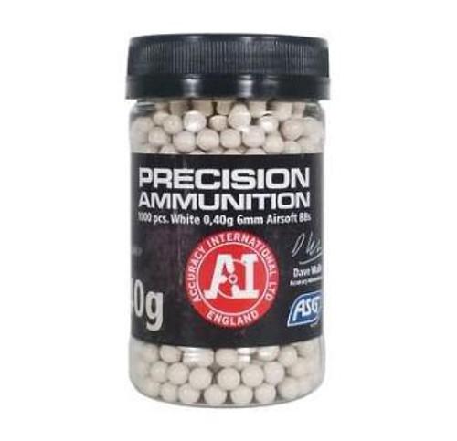 ASG Precision Heavy .40g Bottle, White  18413
