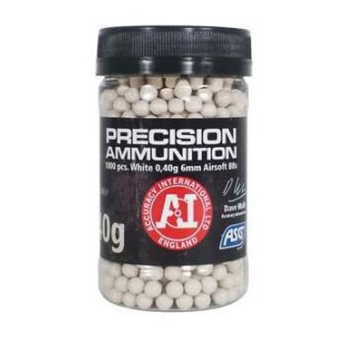 ASG Precision Heavy .40g Bottle, White  18413