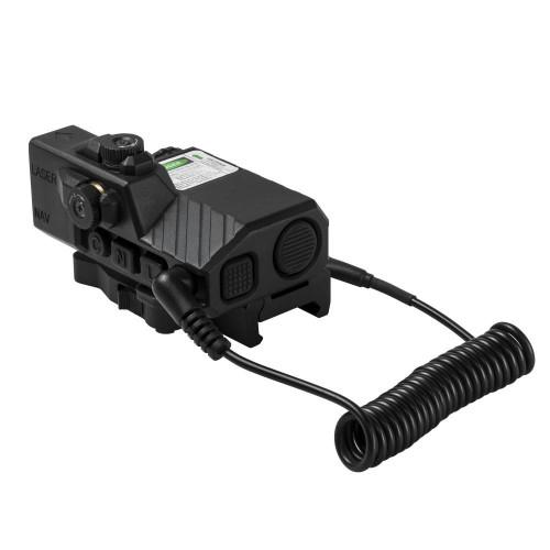 NcStar Offset Green Laser Designator w/ NAV LEDs, Black  VLGSNVQRB