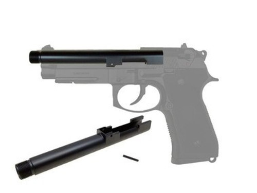 KJW M9 14mm CCW Threaded Metal Outer Barrel  (GBB-601/602/603)  ac-602-mb