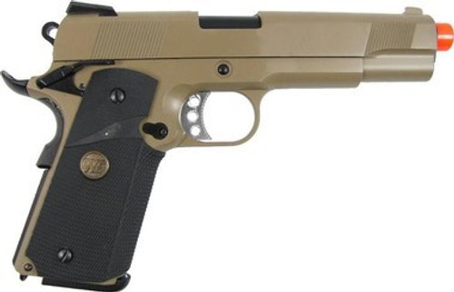 WE MEU 1911 Full Metal GBB Pistol, Tan  gbb-412tw
