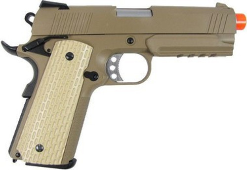WE 4.3 1911 S-Type Full Metal GBB Pistol, Tan  gbb-413tw
