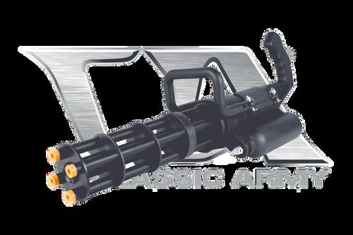 Classic Army M132 Micro Minigun Hybrid Power, Green Gas or HPA  S018M