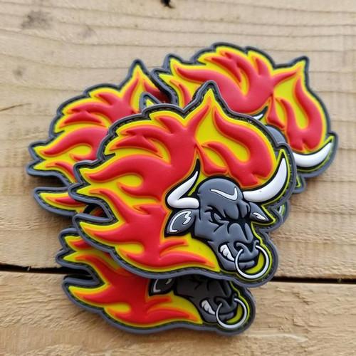 2017 Bull on Fire PVC Patch