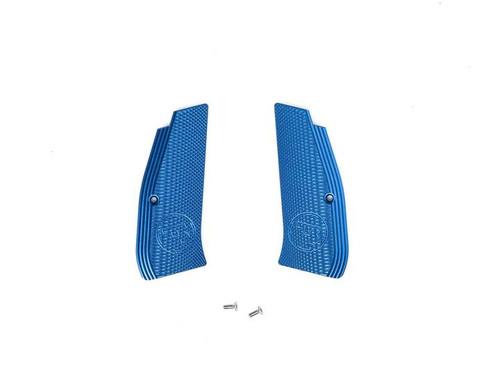 ASG CZ Shadow SP-01 Grip Shells, Aluminum w/ CZ Logo  18513, 18476, 18515