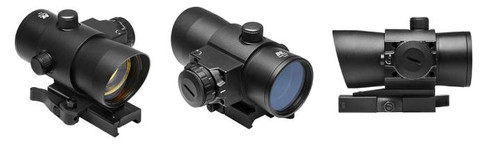 NcStar 40mm Red Dot with Red Laser QR Mount  DLB140R