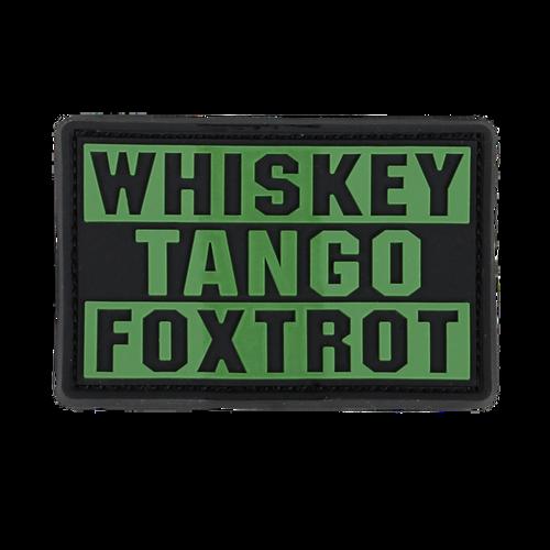 Condor WHISKEY TANGO FOXTROT PVC Patch  181007