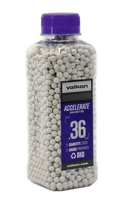 Valken Accelerate BIO .36g Bottle, White  93528
